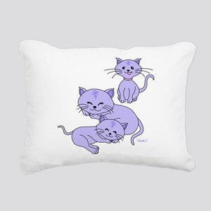 Lavender Meow Rectangular Canvas Pillow