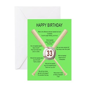 33rd Birthday Greeting Cards