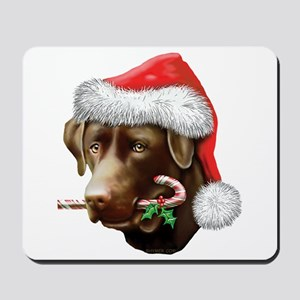 Chocolate Lab Christmas Mousepad