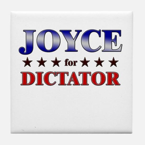 JOYCE for dictator Tile Coaster