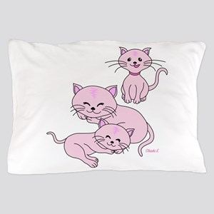 Pink Meow Pillow Case