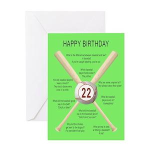 Funny 22nd birthday greeting cards cafepress m4hsunfo