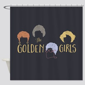 Golden Girls Minimalist Shower Curtain