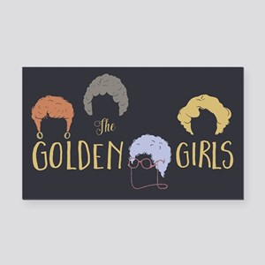 Golden Girls Minimalist Rectangle Car Magnet