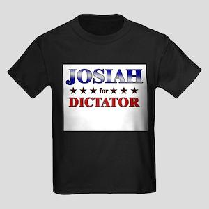 JOSIAH for dictator Kids Dark T-Shirt