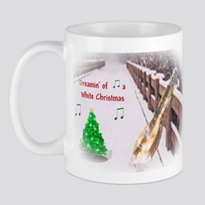 Dulcimers and White Christmas Mug