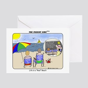"""Life's a """"Real"""" Beach! Greeting Cards (Package of"""