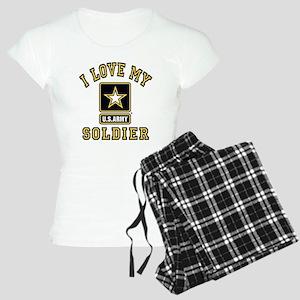 I Love My US Army Soldier Women's Light Pajamas