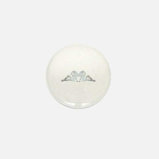 Chrome Trucker Girls Mini Button