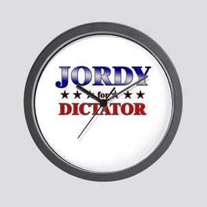 JORDY for dictator Wall Clock