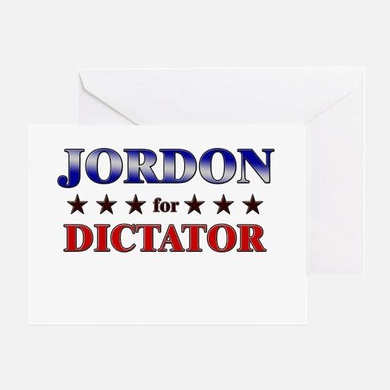 JORDON for dictator Greeting Card