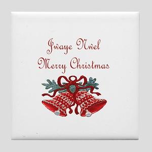 Haitian Christmas Tile Coaster