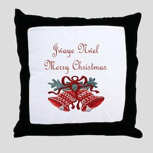 Haitian Christmas Throw Pillow