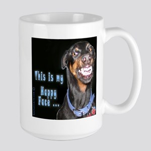 Doberman Pinscher Smiles Large Mug