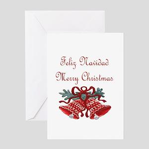 Feliz Navidad Merry Christmas Greeting Card