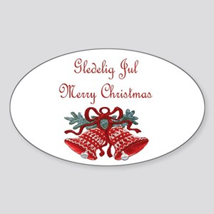 Norway Christmas Oval Sticker
