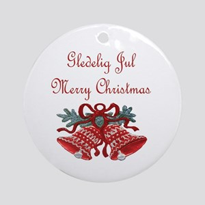 Norway Christmas Ornament (Round)
