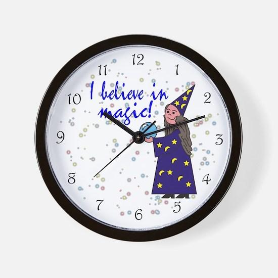 Magic Belief Wizard Wall Clock