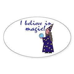 Magic Belief Wizard Oval Decal