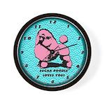 Sugar Poodle Wall Clock