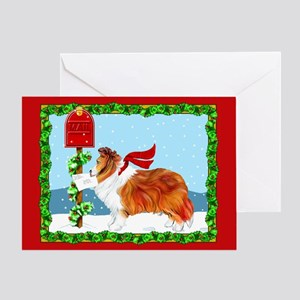 Sable Sheltie Mail Greeting Card