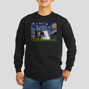 Starry/Pomeranian(r&w) Long Sleeve Dark T-Shirt