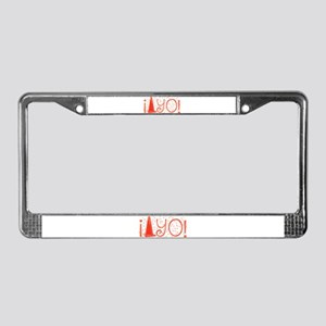 Cone-yo License Plate Frame