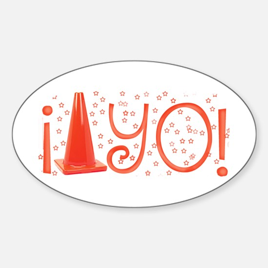 Cone-yo Oval Decal