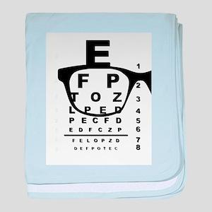 Blurr Eye Test Chart baby blanket