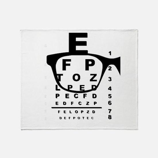 Blurr Eye Test Chart Throw Blanket