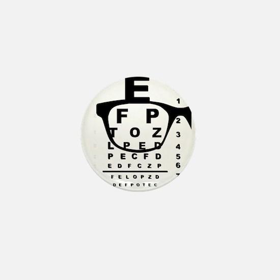 Blurr Eye Test Chart Mini Button