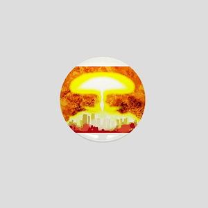 Atomic Bomb Heat Background Mini Button