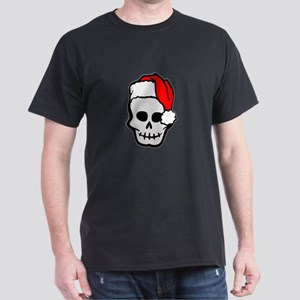 Christmas Santa Skull Dark T-Shirt