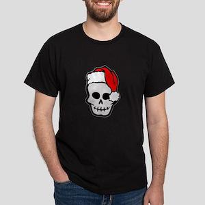 Christmas Santa Skull Dark T-Shirt