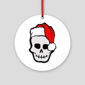 Christmas Santa Skull Ornament (Round)