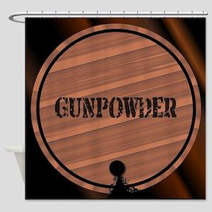 Gunpowder Keg With Powder Trail Shower Curtain