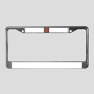 Gunpowder Keg With Powder Trai License Plate Frame