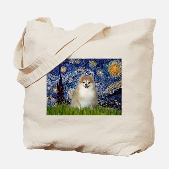 Starry / Pomeranian Tote Bag