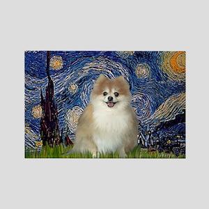 Starry / Pomeranian Rectangle Magnet