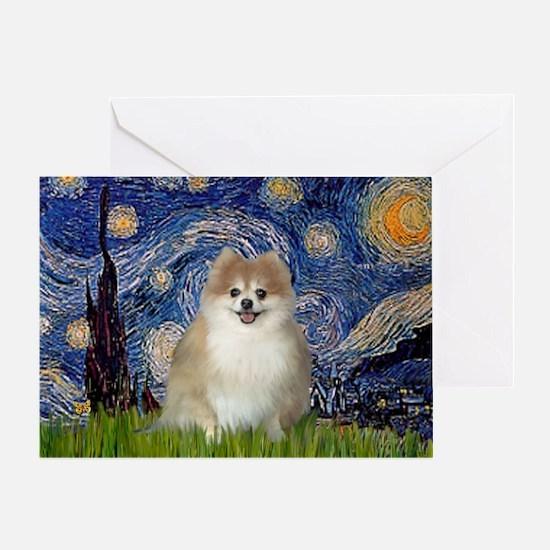 Starry / Pomeranian Greeting Card