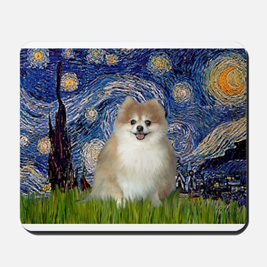 Starry / Pomeranian Mousepad