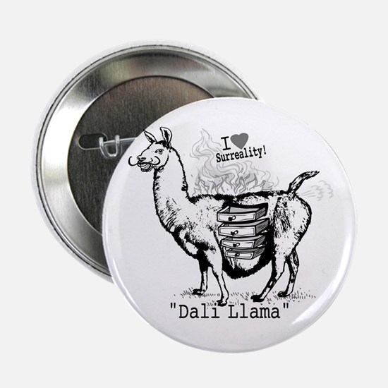 Dali Llama Surreal Button