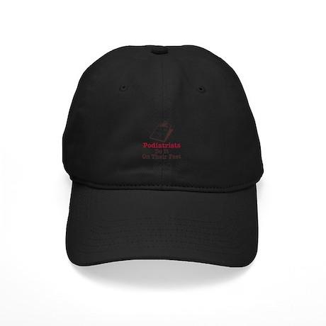 Funny Podiatry Podiatrist Black Cap
