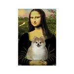 Mona/Pomeranian (#1) Rectangle Magnet (10 pack)