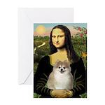 Mona/Pomeranian (#1) Greeting Card