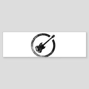 Guitar Ink Stamp Bumper Sticker