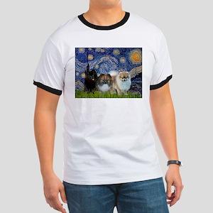 Starry/3 Pomeranians Ringer T