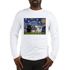 Starry/3 Pomeranians Long Sleeve T-Shirt