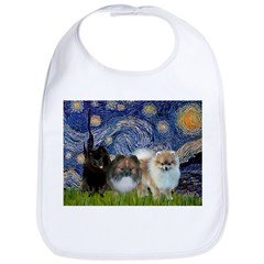 Starry/3 Pomeranians Bib