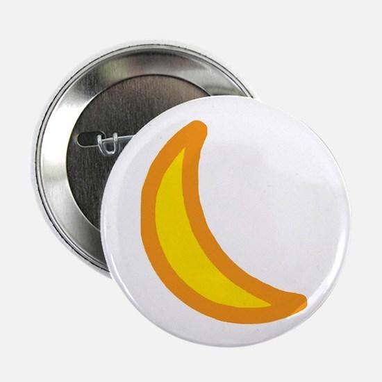 "Quarter Moon 2.25"" Button"